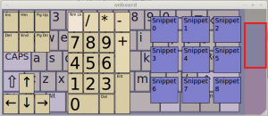 on-screen keyboard in Linux Mint / Ubuntu - numpad