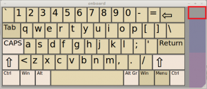 on-screen keyboard in Linux Mint / Ubuntu - alphanumeric keys