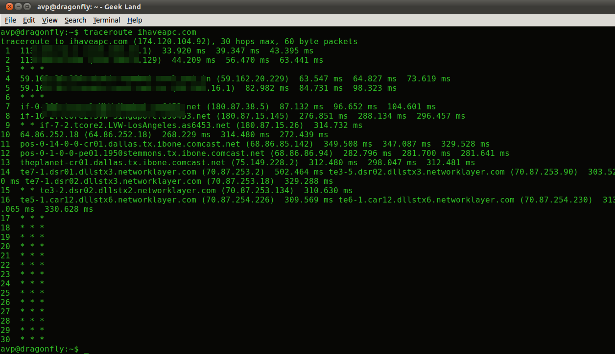 How To Install And Use Traceroute In Linux Mint / Ubuntu Terminal