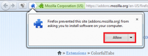 ColorfulTabs Firefox add-on installation