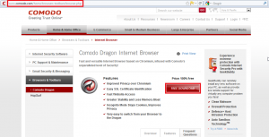 Comodo Dragon Internet Browser Home Page