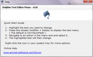 Dolphin Text Editor Menu quick start guide