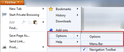 How To Quickly Enable / Disable Firefox Orange Button in