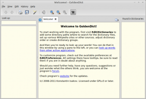 GoldenDict Dictionary Software In Linux Mint / Ubuntu