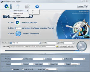 Main interface for WonderFox DVD Ripper