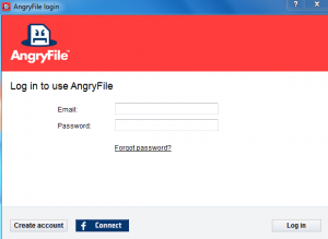 Login to AngryFile backup client