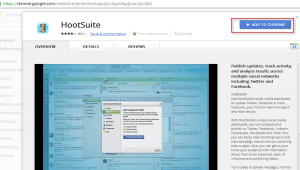 Adding Hootsuite app to Google Chrome