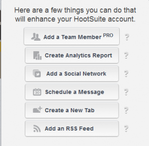 Hootsuite tasks