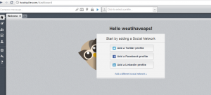 Adding social media networks to be monitored and used from within Hootsuite