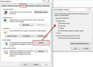 AutoComplete settings in IE9