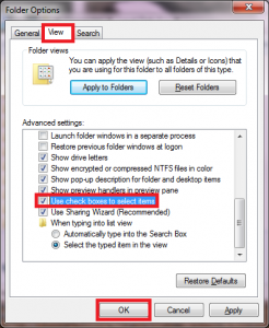 How To Enable Check Boxes In Windows 7 Explorer