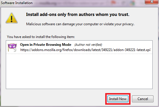 how to open firefox in browsing mode without