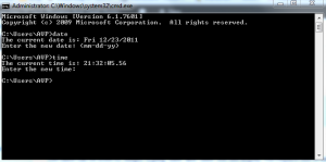 Date and time from Windows command prompt with prompt