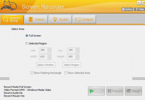 SnowFox Screen Recorder interface