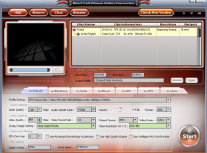 Main interface in WinX Cell Phone Video Converter