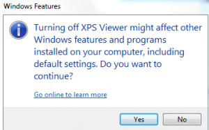 Removing XPS viewer warning