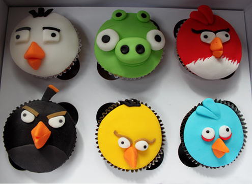 Angry Birds Cup Cakes For Gaming Geeks