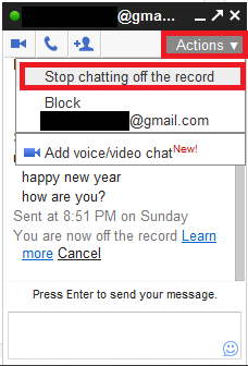 How To Do A 'Off The Record' Chat In Gmail