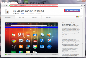 Ice Cream Sandwich Theme For Google Chrome Browser