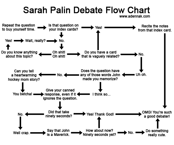 Sarah Palin Debate Flow Chart