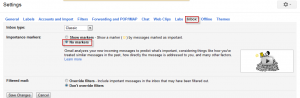 Turn off importance markers in Gmail