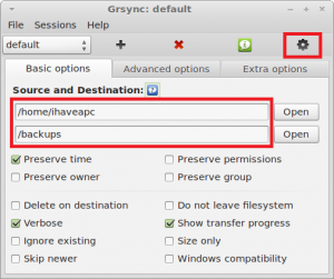How To Do Quick Backups In Linux Mint / Ubuntu Using Grsync