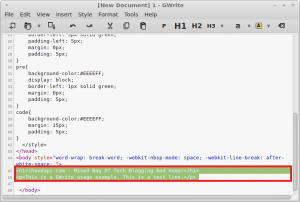 GWrite: A Cool HTML5 Editor For Linux Mint / Ubuntu
