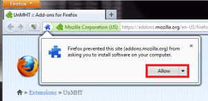 How To Save Web Pages As MHT Files Using Firefox
