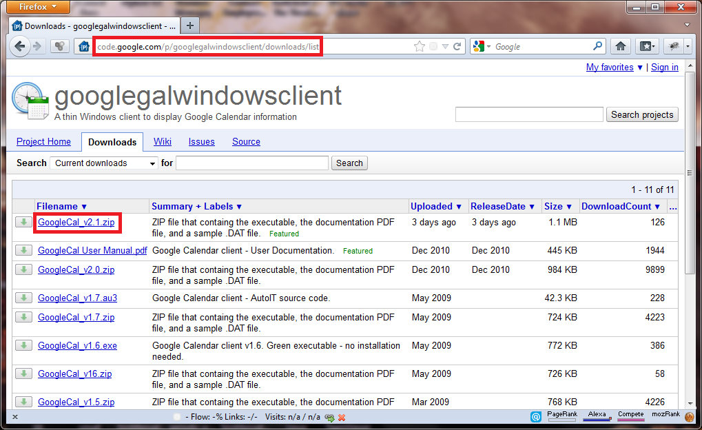 How To Install And Use Google Calendar Client In Windows 7 - I Have