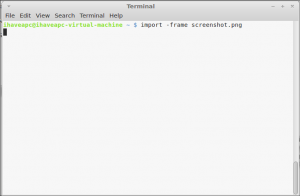 How To Quickly Grab Screenshot Of Desktop From Terminal In Linux Mint / Ubuntu