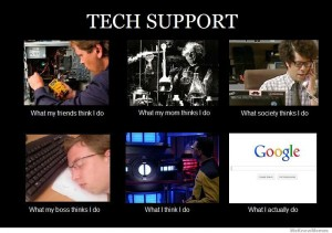 Tech support work explained : funny
