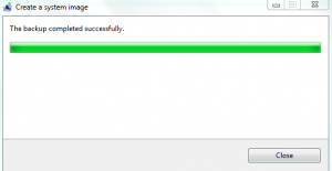 Finished Windows 7 image backup