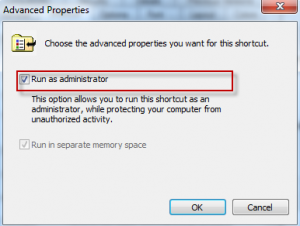 Always run as administrator option for Windows command prompt