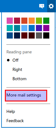how to change the display in outlook